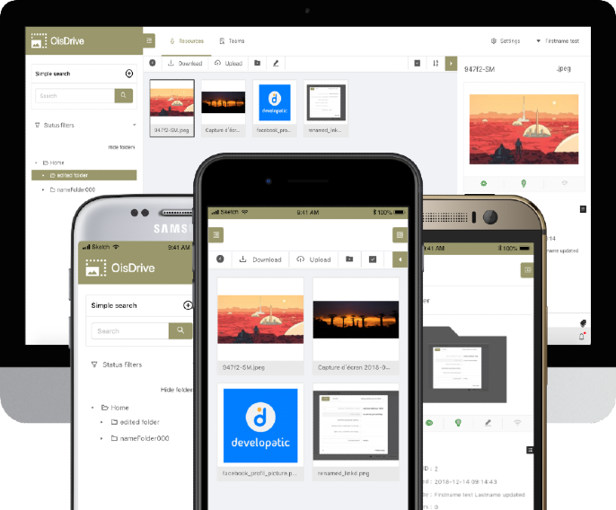 Illustration Application web Oisdrive